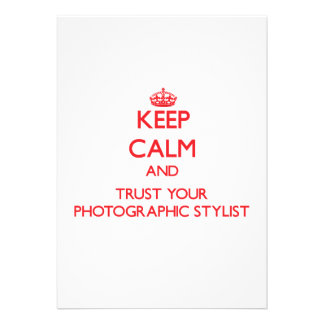 Guarde la calma y confíe en a su estilista fotográ