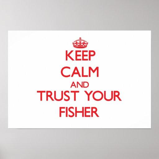 Guarde la calma y confíe en a su Fisher Impresiones