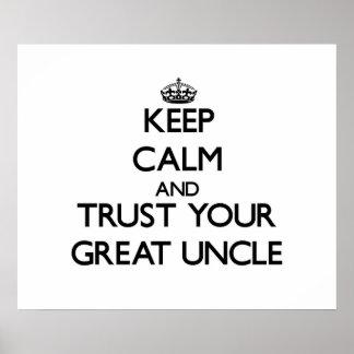 Guarde la calma y confíe en a su gran tío poster