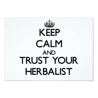 Guarde la calma y confíe en a su Herbalist Comunicados Personales