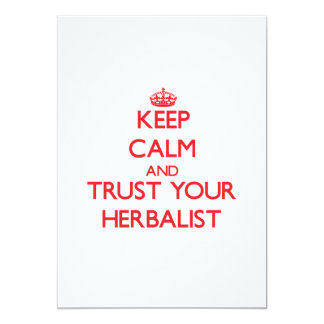 Guarde la calma y confíe en a su Herbalist Anuncios