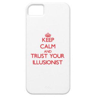 Guarde la calma y confíe en a su ilusionista iPhone 5 carcasa