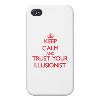 Guarde la calma y confíe en a su ilusionista iPhone 4 cárcasa