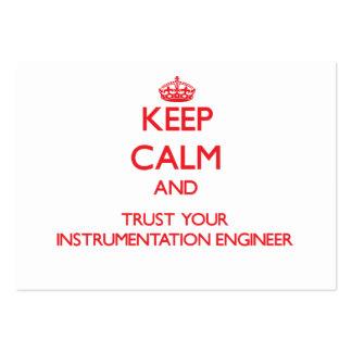 Guarde la calma y confíe en a su ingeniero de la i tarjetas de visita