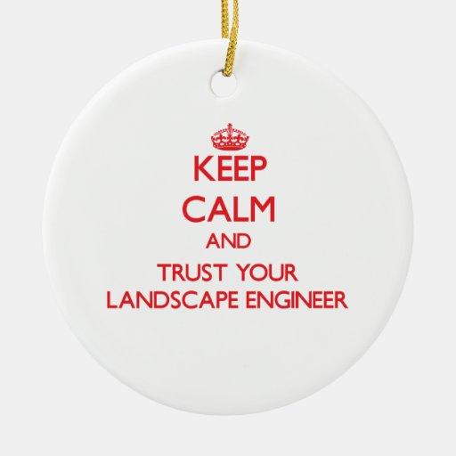 Guarde la calma y confíe en a su ingeniero del pai adornos de navidad