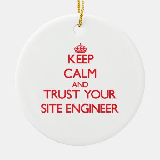 Guarde la calma y confíe en a su ingeniero del sit ornamentos de reyes