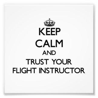 Guarde la calma y confíe en a su instructor del vu fotos
