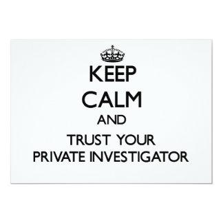 Guarde la calma y confíe en a su investigador anuncio personalizado