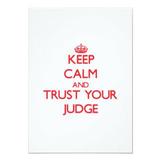Guarde la calma y confíe en a su juez comunicado personal