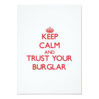Guarde la calma y confíe en a su ladrón invitación