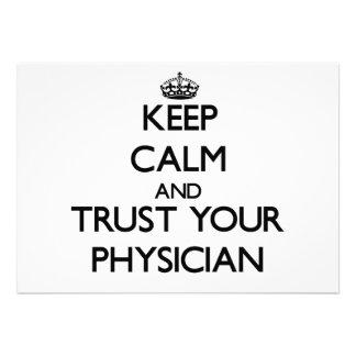 Guarde la calma y confíe en a su médico anuncios
