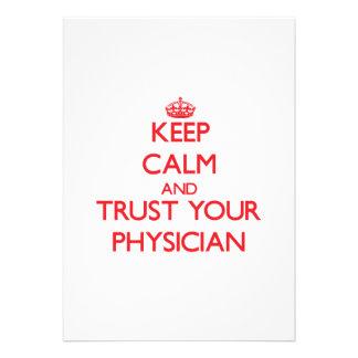 Guarde la calma y confíe en a su médico comunicado personalizado