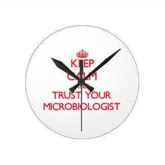 Guarde la calma y confíe en a su microbiólogo