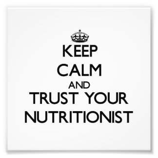 Guarde la calma y confíe en a su nutricionista