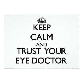 Guarde la calma y confíe en a su oculista comunicados