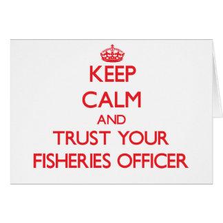 Guarde la calma y confíe en a su oficial de las tarjeta de felicitación