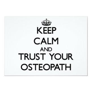 Guarde la calma y confíe en a su osteópata invitación