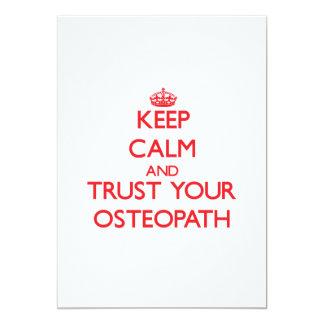 Guarde la calma y confíe en a su osteópata comunicado
