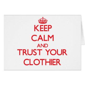Guarde la calma y confíe en a su panero tarjeta de felicitación