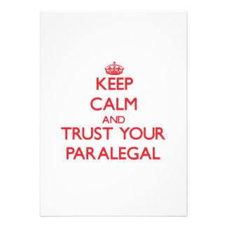 Guarde la calma y confíe en a su Paralegal Comunicado