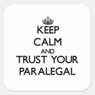 Guarde la calma y confíe en a su Paralegal