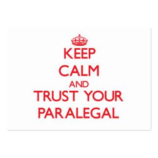 Guarde la calma y confíe en a su Paralegal Plantillas De Tarjetas Personales