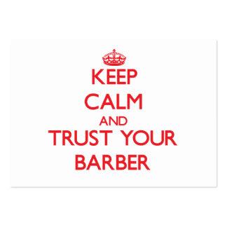 Guarde la calma y confíe en a su peluquero tarjetas personales