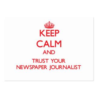 Guarde la calma y confíe en a su periodista del pe tarjeta de visita