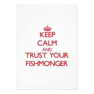 Guarde la calma y confíe en a su pescadero