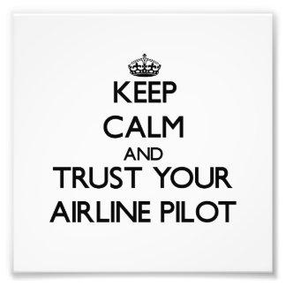 Guarde la calma y confíe en a su piloto de la líne fotografía