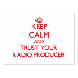 Guarde la calma y confíe en a su productor de radi