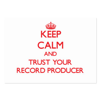 Guarde la calma y confíe en a su productor de regi plantilla de tarjeta de visita