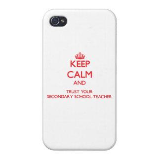 Guarde la calma y confíe en a su profesor de escue iPhone 4 coberturas