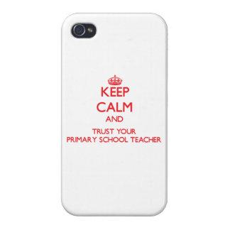 Guarde la calma y confíe en a su profesor de escue iPhone 4/4S fundas