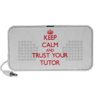 Guarde la calma y confíe en a su profesor particul mp3 altavoces