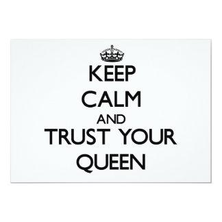 Guarde la calma y confíe en a su reina anuncios