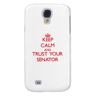 Guarde la calma y confíe en a su senador