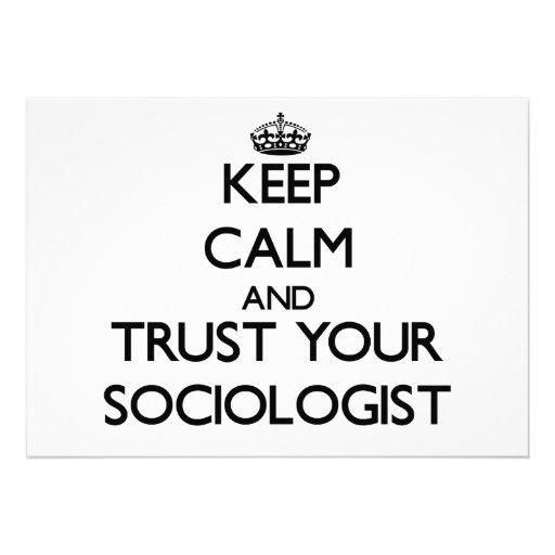 Guarde la calma y confíe en a su sociólogo invitaciones personales
