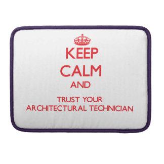 Guarde la calma y confíe en a su técnico arquitect