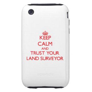 Guarde la calma y confíe en a su topógrafo de la t iPhone 3 tough protectores