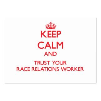 Guarde la calma y confíe en a su trabajador de las tarjetas de visita