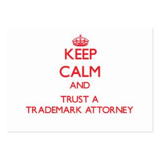 Guarde la calma y confíe en a un abogado de la mar tarjeta de visita