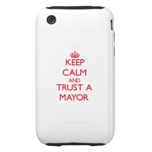 Guarde la calma y confíe en a un alcalde iPhone 3 tough carcasas