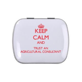 Guarde la calma y confíe en a un asesor agrícola jarrones de caramelos
