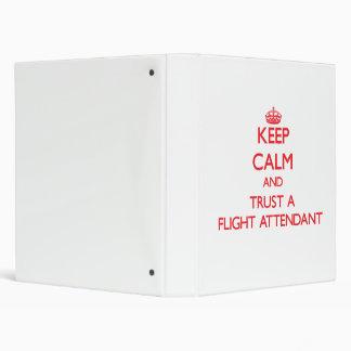 Guarde la calma y confíe en a un asistente de vuel