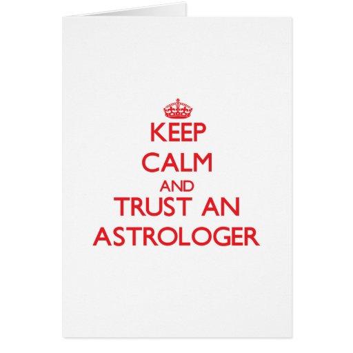 Guarde la calma y confíe en a un astrólogo tarjeton