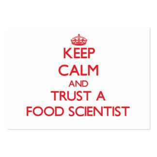 Guarde la calma y confíe en a un científico de la  plantilla de tarjeta de negocio