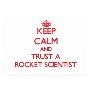 Guarde la calma y confíe en a un científico de Roc Plantilla De Tarjeta Personal