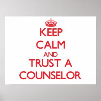 Guarde la calma y confíe en a un consejero impresiones