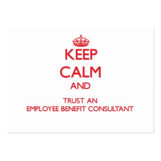 Guarde la calma y confíe en a un consultor de vent tarjetas de negocios